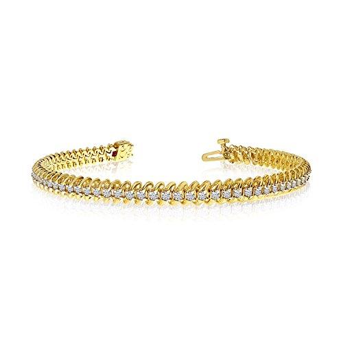 '14K oro giallo Soft 'S Illusion diamante Bracciale