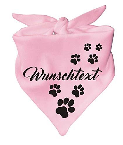 Kleiner Fratz Hunde Dreiecks Halstuch (Fb: rosa) (Gr. 1 (55 cm)) mit Ihrem Wunschtext