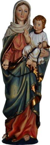 Virgen con Niño, Altura 38cm, Handbemalen