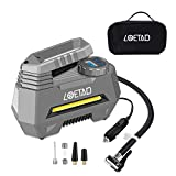 LOETAD Compresseur d'air Portatif Gonfleur Pneu Voiture Auto Digital DC 12V Adaptable...