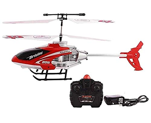 luchila Velocity Remote Control Flying Helicopter with. Unbreakable Blades Infrared Sensors, Chargeable Helicopter Toy for Kids(Multy Colour)