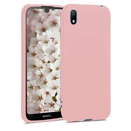 kwmobile Cover Compatibile con Huawei Y5 (2019) - Cover Custodia in Silicone TPU - Backcover Protezione Posteriore - Oro Rosa