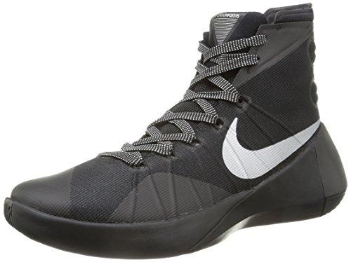 Nike Hyperdunk 2015, Zapatillas de Baloncesto para Hombre, Black/Metallic Silver, 44 EU