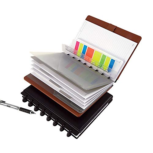"""TUL Custom Note-Taking System Discbound Tab Dividers, 5 1/2"""" x 8 1/2"""", Junior Size, Assorted Colors Photo #3"""