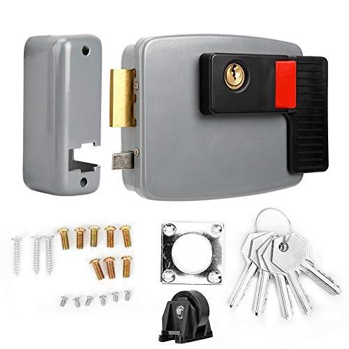 Broco Puerta Bloqueo Timbres Eléctricos, DC12V control eléctrico de bloqueo magnético de...