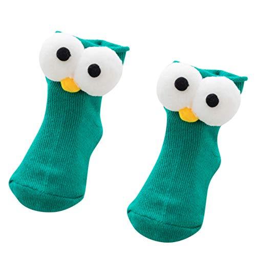 Sensail Chaussettes pour enfants 1 paire de chaussettes en coton bébé garçon fille enfants enfants automne et hiver chaud grands yeux chaussettes de dessin animé chaussettes enfants confortables