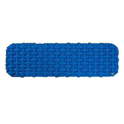 Ouuager-Home Picknick Mat Ultra-Light Camping-Zelt-Matten Einpersonen-Thick Feuchtigkeitsbeständig Bambus Aufblasbare Luftmatratzen Camping Mat (Color : Blue, Size : 59x195x6.5cm)