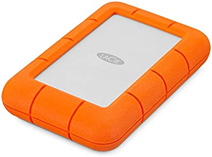 LaCie Rugged Mini 4TB External Hard Drive Portable HDD – USB 3.0 USB 2.0 compatible, Drop Shock Dust Rain Resistant Shuttle Drive, for Mac and PC Computer Desktop Workstation PC Laptop (LAC9000633)