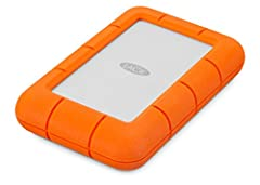 Travel with massive capacity of up to 4TB in an ultra compact portable external hard drive LaCie Rugged Mini For those who have a need for speed, seamlessly connect to USB 3.0 computers and transfer content fast with speeds of up to 130MB/s Trek conf...