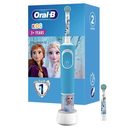 Oral-B Niños Cepillo De Dientes Eléctrico, 1 Mango De Frozen 2 De Disney Recargable Con Tecnología De Braun, Apto Para Niños Mayores De 3 Años (Modelos surtidos)