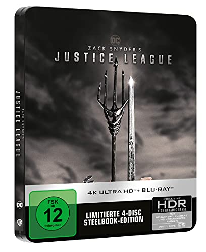Zack Snyder's Justice League - limited Steelbook [4k UHD +Blu-ray]