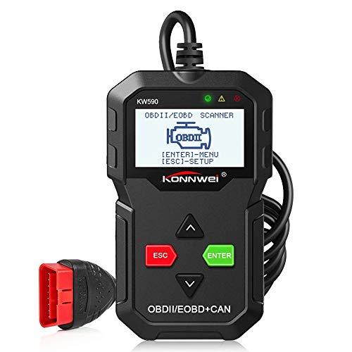Preisvergleich Produktbild KONNWEI OBD2 Diagnosegerät,  Handscanner Fahrzeug Motordiagnose Codeleser Diagnose Scan Werkzeug für OBDII / EOBD Protokoll Alle Benzin Fahrzeuge nach 1996