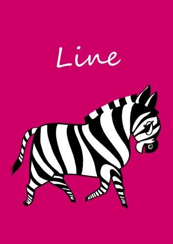 Line: personalisiertes Malbuch / Notizbuch / Tagebuch - Zebra - A4 - blanko