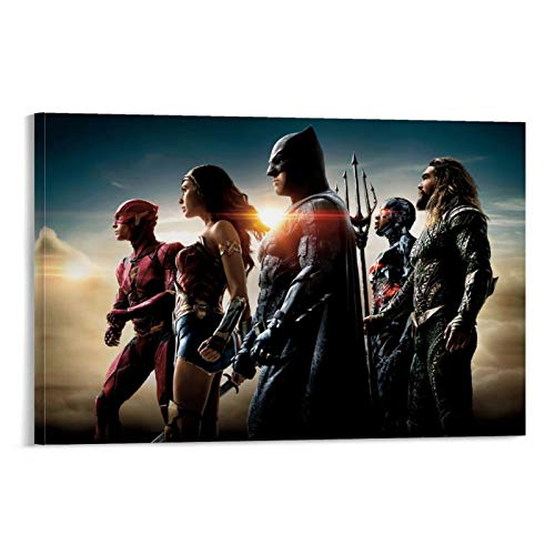 Oil Paintings Prints for Home on Wall Justice League Movie Stills Wall Art For Home Decorations Wall Decor 24x36inch(60x90cm)