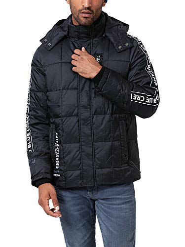 Camp David Herren Steppjacke mit Kapuze und Artworks