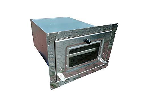 MIMART Home&Wood Backroehre Backkasten Ofen Pizzaofen Backofen Brotbackofen/Rostfrei mit Glas/