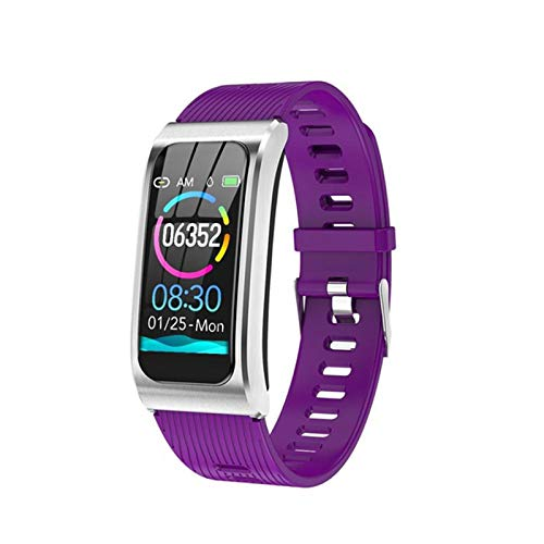 YDK Pulsera Inteligente AK12, Reloj de Color Damas Salud Deportes Pulsera IP68 Impermeable Pulsera Inteligente TPU Correa Pulsera PK X3 Smart Watch,A