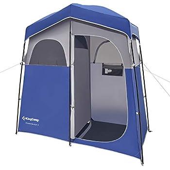 KingCamp Tente de Douche Pop Up Toilette Cabinet de Changement Tente Instantanée Abri de Plein Air Vestiaire Extérieure Intérieure Portable