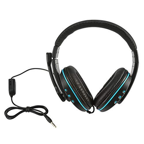 Bellaluee Auriculares estéreo con Sonido Envolvente, Auriculares creativos para Juegos de Moda, micrófono con Cable de 3,5 Mm para Auriculares portátiles