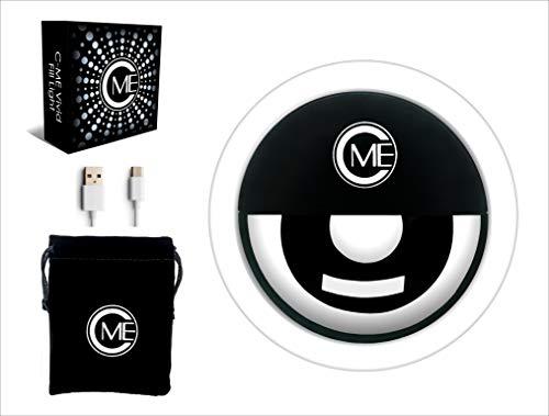 C-ME VIVID Selfie Ring Light | Recargable | Luz circular de clip portátil con 36 LED para iPhone/Android Smart Phone | Luz de fotografía, luz Vlog, anillo de luz de maquillaje, iluminación de YouTube