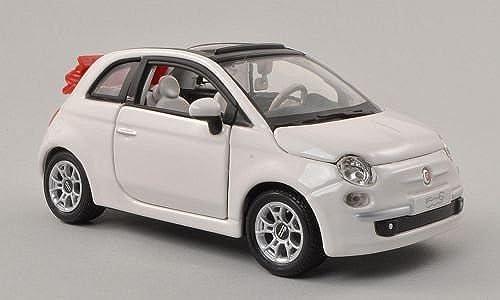 despacho de tienda Fiat 500C Cabriolet, blanco, canopy canopy canopy open , Model Car, Ready-made, Bburago 1 24 by Bburago  mas barato