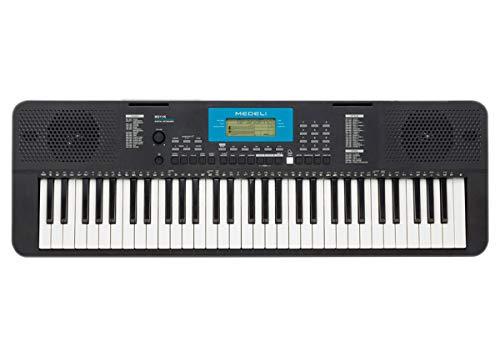 Elektronische Tastatur Medeli M211K - 61 empfindliche Tasten - USB Midi - LCD-Display - 320 Stimmen - 200 Stile - Polyphonie 32