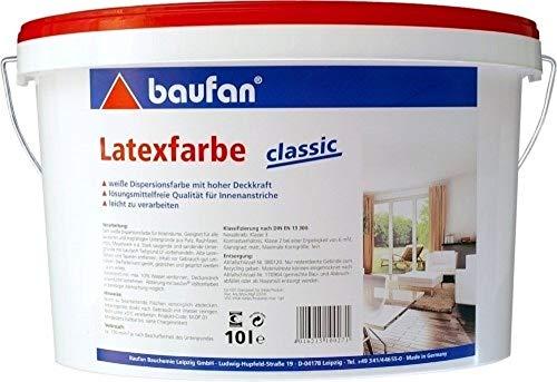 10 Liter Baufan Latex-Farbe classic weiß