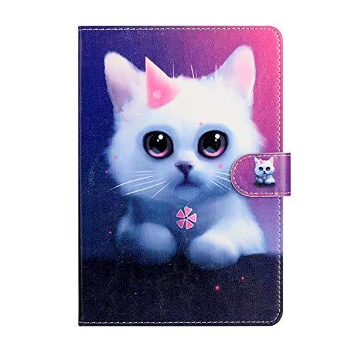Miagon Tablet Hülle für iPad 10.2 2019/ iPad Pro 10.5/ iPad Air 3,PU Leder Flip Brieftasche Case mit Standfunktion Kartenschlitz Stoßfest Cover,Niedlich Katze