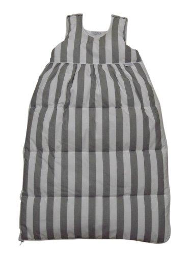 Tavolinchen 40/105-206-110 - Daunenschlafsack Streifen breit weiß-grau, Größe 110 cm