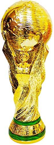 HAITAO Réplique de la Coupe du Monde 2018, trophée de Football, Artisanat en résine, compétition, récompenses, honneurs, Cadeaux d'anniversaire, dorés, 36 cm de Haut, 1.5 kg.