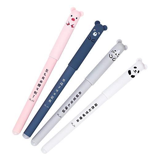 Confezione da 4colori Cartoon Fresh Star Diamond color gel Pen, Erasable decorativo Marker pen-0.35mm