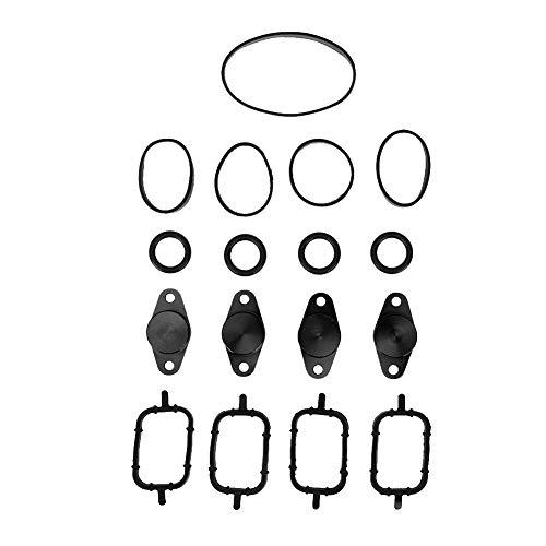 Akozon Swirl Flaps 4 x 22 mm Flaps Motor Swirl Flaps blindstop met rubberen afdichtingen voor E46 320d / 318d default zwart.