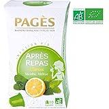 Pagès Infusion Bio Après-Repas Citron/Menthe/Mélisse - 10 Capsules Compatibles Avec Les Machines Nespresso - Lot De 3