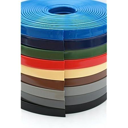 40 x 8, gr/ün 1m PVC Kunststoffhandlauf Handlauf Treppenhandlauf 40x8 mm Gummi Gel/änder