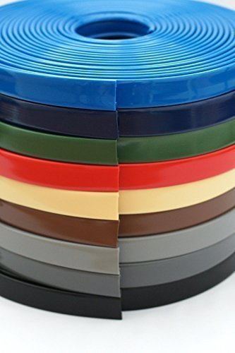BST 1 m PVC Kunststoff Handlauf, Treppenhandlauf 40x8 mm (dunkelgrau)