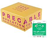Pregable Combo Kit of 50 Ovulation Tests and 20 Pregnancy Tests, Free Tracker app, SmileReader app, OPKs, HPTs (50LH + 20HCG)