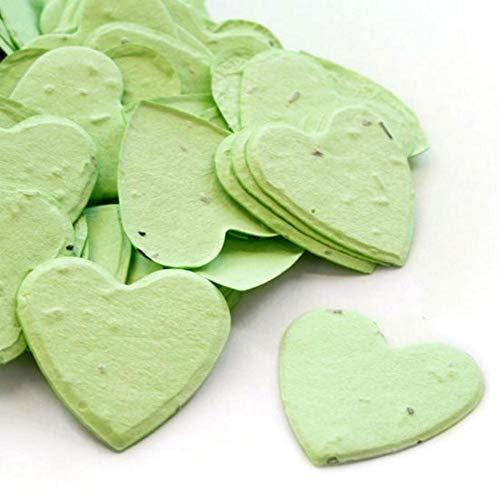 Pflanzbares Konfetti in Herzform in grüner Vorteilspackung (zwei 350 Beutel = 700 Stück Samenkonfetti)