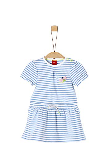 s.Oliver Junior Baby-Mädchen 405.10.004.20.200.2038008 Kinderkleid, 53G6 Blue Stripes, 62