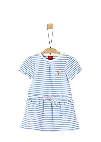 s.Oliver RED LABEL Unisex - Baby Jerseykleid mit Ringelmuster light blue stripes 62
