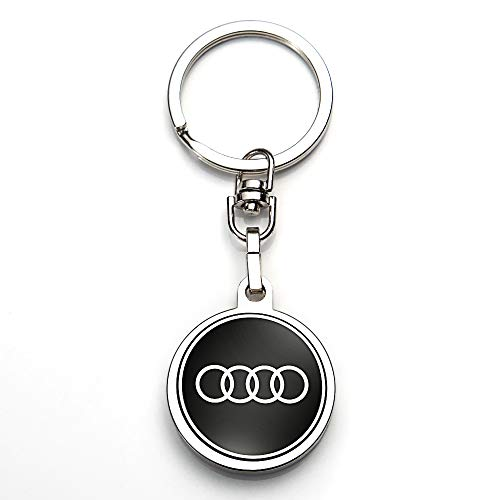 JIYUE Compatible for Keychains 3D Car Logo Suit for Keychain Suit for Audi A1 A3 A4 A5 A6 A7 A8 Q5 Q7 R8 S5 S7 Q5 RS Key Chain Keyring Family Present for Man and Woman(1pcs)
