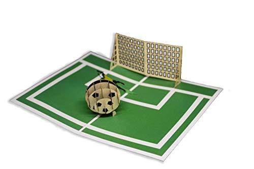 Tarjeta de felicitación de Origami Color, I Love Football