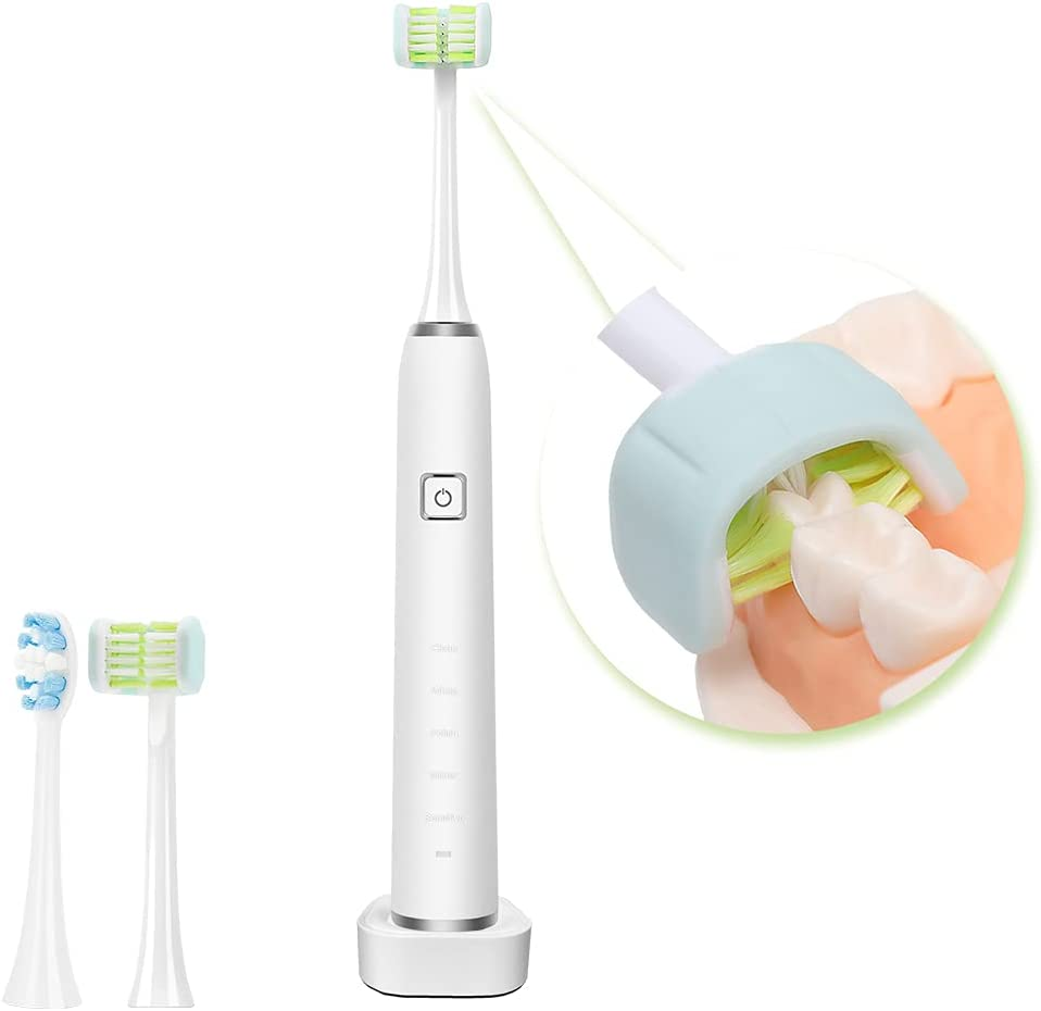 Electric Toothbrush for Adults with 3D Brush Ultra-Cheap Max 71% OFF Deals Head Brushin Soft 5