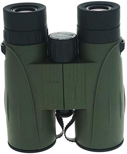 DERUKK-TY ActualizadoTelescopio 8X42 Binoculares Rectos, Alta definición HD, bajo Nivel de luz Totalmente Multicapa y Pesca Campamento/Senderismo Ejército
