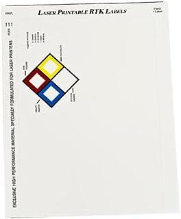"Brady 59248, MarkWare 7"" x 10"" Vinyl Laser Printable Vinyl Right-to-Know Label Blank, 3 Packs of 25 pcs"