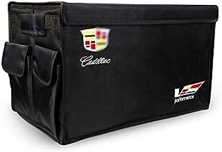 YI MEI DA for Cadillac Accessories Cadillac Logo Cargo Trunk Organizer,Black
