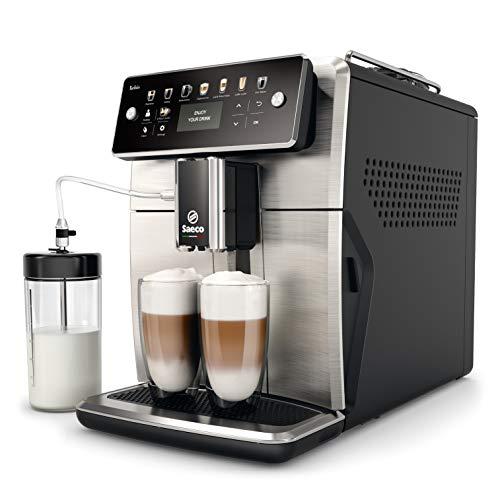 Saeco SM7583/00 Xelsis Macchina da caffè completamente automatica con 12 specialità di caffè (display a LED con tasti a scelta diretta, 6 profili utente), acciaio inox