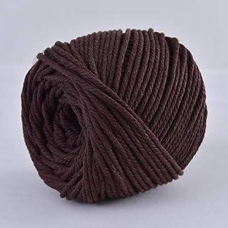 Wang shufang 1pc 4mmx110yards 100% Coton Cordon coloré Corde Beige Craft Twisted macramé chaîne de Bricolage Home Textile ...