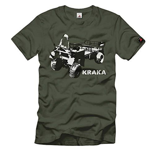Kraka Faun Quad Fallschirmjäger Fahrzeug Bundeswehr Militär T Shirt #176, Größe:L, Farbe:Oliv