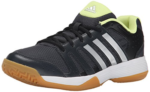 adidas Performance Women's Ligra 3 Volleyball Shoe,Dark Grey/Silver/Frozen Yellow,12 M US