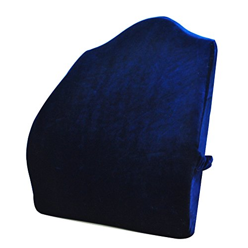 Sleep Science Patented Premium Ergonomic Back Pain Relief Memory Foam Lumbar Pillow Back Cushion for Office Chairs Recliners Sofas Extra Wide Extra Large Navy Blue 18185in